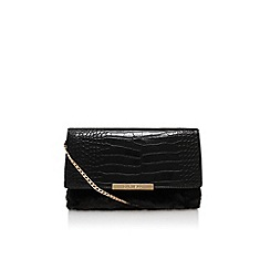 Carvela - Black 'Cala croc fur clutch' small handbag with chain shoulder strap