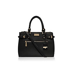 Carvela - Black 'Cala double zip tote' handbag