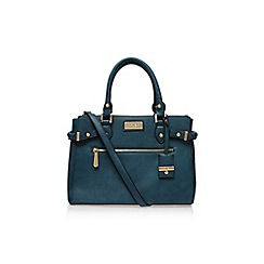 Carvela - Teal 'Cala double zip tote' handbag