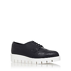 Carvela - Black 'Lime' flat platform lace up formal shoe