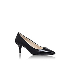 Nine West - Black 'xeena3' mid heel court shoe