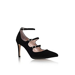 Carvela - Black 'auto' high heel strap detail court shoe