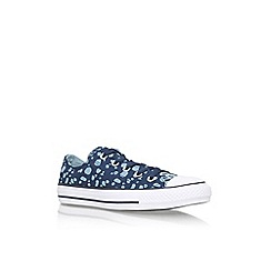 Converse - Blue 'Ct animal low' flat sneakers