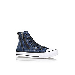 Converse - Blue 'Ct dual zip hi' high top sneaker