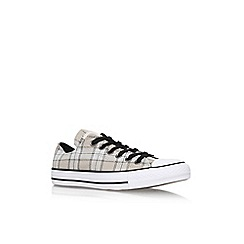 Converse - Grey/Other 'CT PLAID LOW' flat lace up lo top trainer