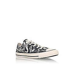 Converse - White 'Ct pop art low' flat canvas lace up sneaker