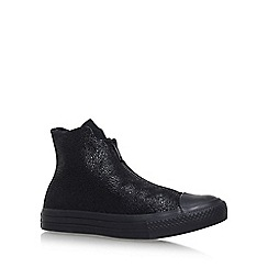 Converse - Black 'Ct Shroud Hi' flat lace up sneakers