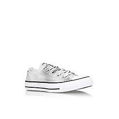 Converse - White/blk 'Ct wash glttr lw' flat lace up lo top trainer