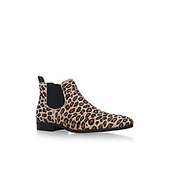 KG Kurt Geiger - Brown 'Lesley' low heel ankle boot