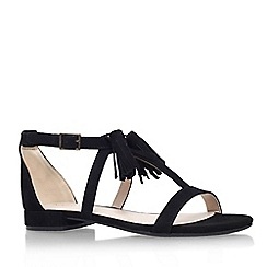 Nine West - Black 'Weslia' flat sandal