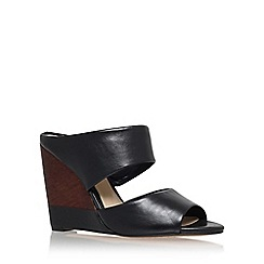 Vince Camuto - Black 'marilu' high heel wedge sandal