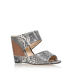 Vince Camuto - Grey 'marilu' high wedge heel sandal