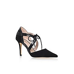 Carvela - Black 'Klamp' high heel lace up court shoe
