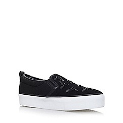 Miss KG - Black 'Lux' flat slip on sneakers
