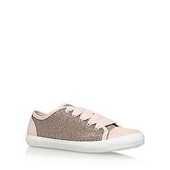 Miss KG - Gold 'Leni 2' flat lace up sneaker