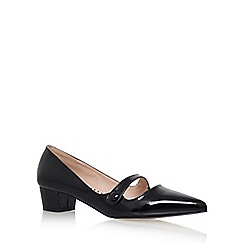 Miss KG - Black 'Audrina' low heel court shoe