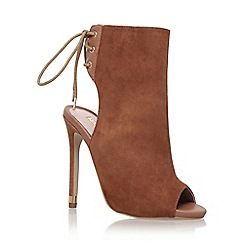 Carvela - Brown 'gabby' high heel shoe boot