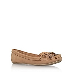 Carvela - Brown 'Lovely' flat slip on loafers