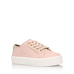 Carvela - Natural 'Lorna' flat lace up sneakers