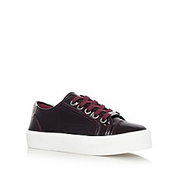 Carvela - Grey 'Lorna' flat lace up sneakers