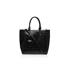Carvela - Black 'Arlette croc tote' handbag