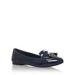 Miss KG - Navy 'Karina' tassel loafer