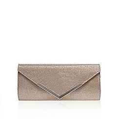Carvela - Silver 'Daphne' envelope clutch bag