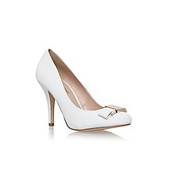 Miss KG - White 'Steph' high heel court shoe