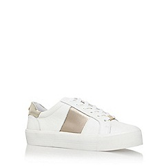 Carvela - White 'Lotus' flat lace up sneakers