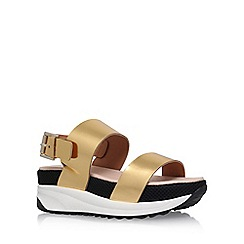 KG Kurt Geiger - Gold 'Neutron' flat sandals