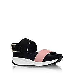 KG Kurt Geiger - Pink 'Neutron' flat platform strappy sandal