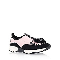Carvela - Pink 'Lullaby' flat lace up sneakers