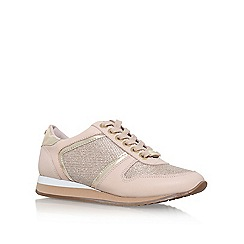 Carvela - Natural 'Lennie' flat lace up sneakers
