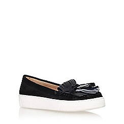 Carvela - Black 'lilian' flat tassel loafer
