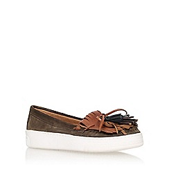 Carvela - Brown 'lilian' flat tassel loafer
