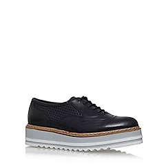 Carvela - Black 'Lasting' mid heel lace up shoe