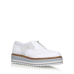 Carvela - White 'Lasting' mid heel lace up shoes