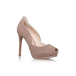 Nine West - Brown 'copilot' high heel peep toe court shoe