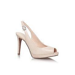 Nine West - Brown 'emilyna' high heel slingback shoe