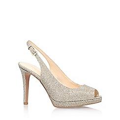 Nine West - Gold 'emilyna2' high heel slingback shoe