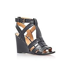 Nine West - Black 'farfalla' high wedge heel sandal