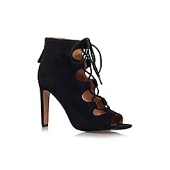 Nine West - Black 'unfrgetabl' high heel lace up shoe boot