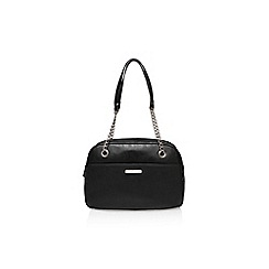 Nine West - Black 'Lets Bowl Satchel Lg' handbag with shoulder strap