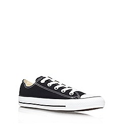 Converse - Black 'Chuck Taylor Ox' flat lace up sneaker
