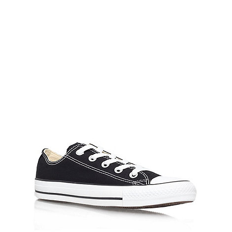 Converse - Black +Chuck Taylor Ox+ flat lace up sneaker