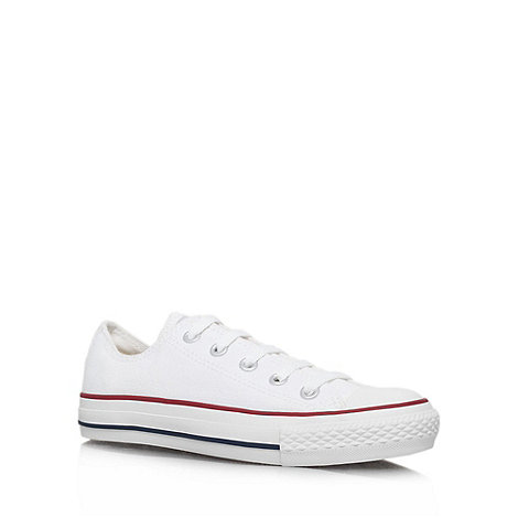 Converse - Converse white +chuck taylor ox+ trainers