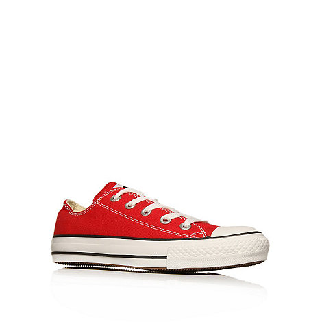 Converse - Red +Chuck taylor ox+ trainers