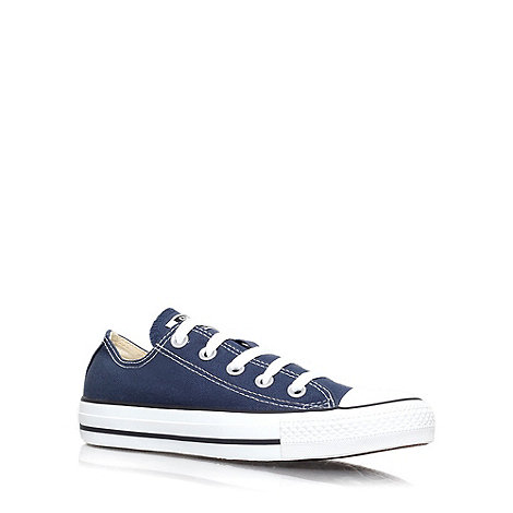 Converse - Blue +Chuck Taylor Ox+ flat lace up sneaker