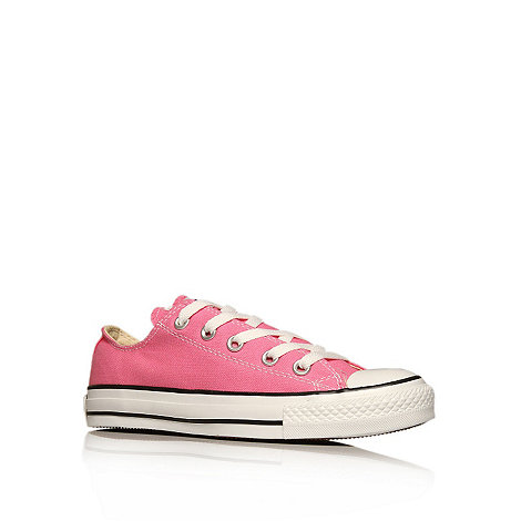 Converse - Converse pink +chuck taylor ox+ trainers