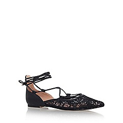 KG Kurt Geiger - Black 'Larissa' flat lace up ballerina